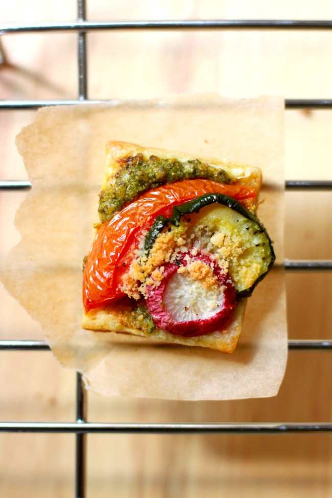 Vegetable Tartlets with Pesto Sauce 4