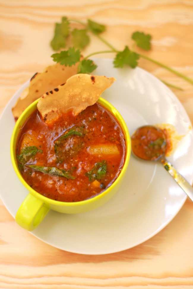 Rasam with Pear (Tangy Tomato based Indian Soup) - Guest Post for Divya @ Flavour Fiesta! 6