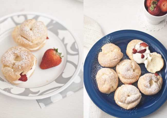 Cream Puffs filled with Strawberry and Mascarpone - Guest Post for Ananda @ A Pinch of Love 5
