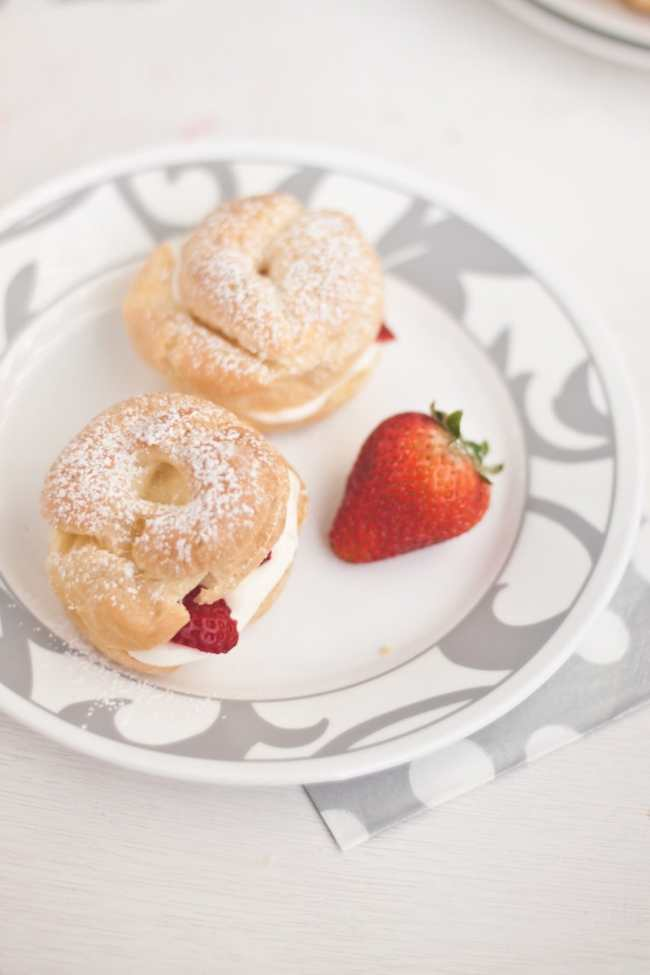Cream Puffs filled with Strawberry and Mascarpone - Guest Post for Ananda @ A Pinch of Love 1