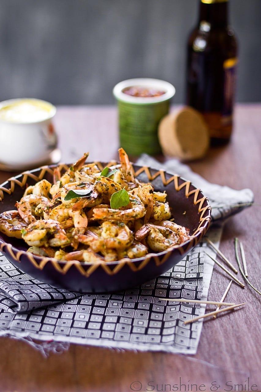 Stir Fried Shrimp with Lemon Aioli 2