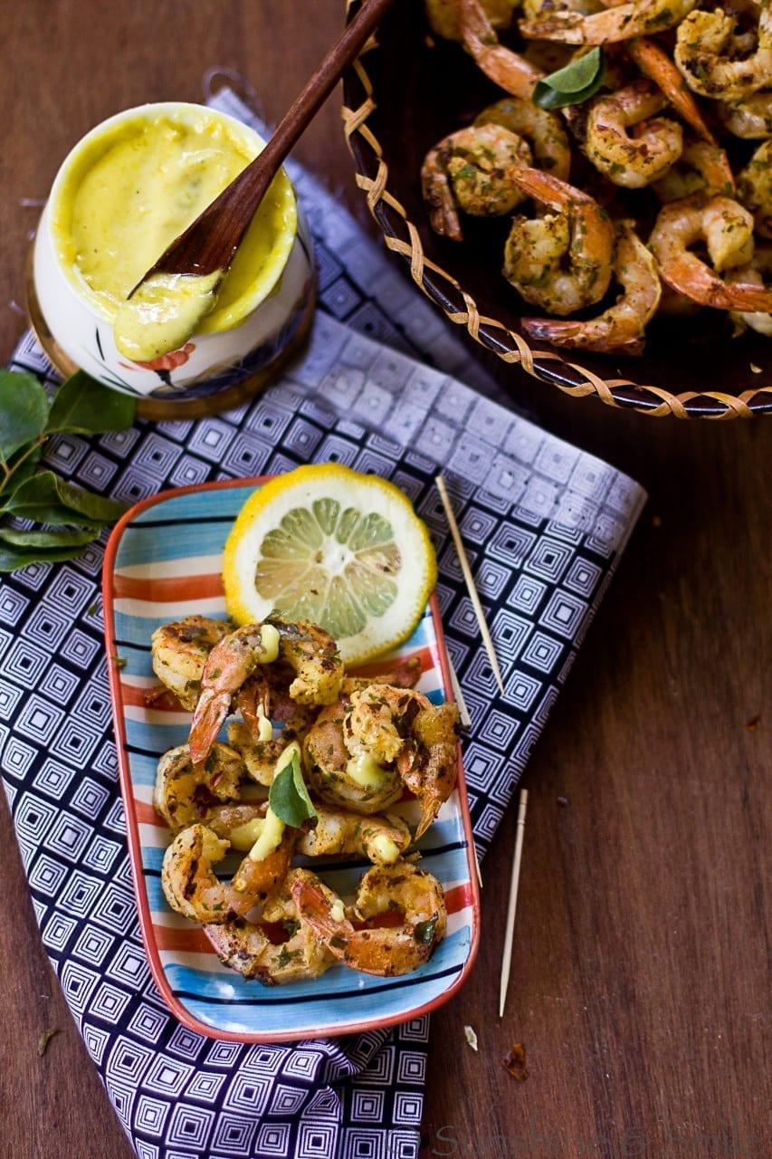Stir Fried Shrimp with Lemon Aioli 1