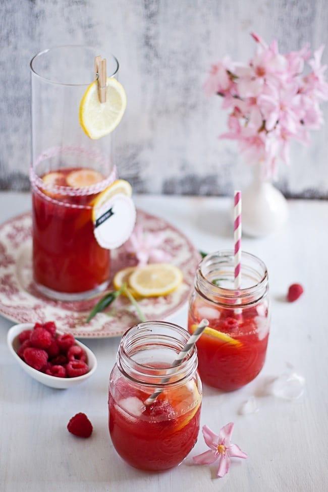Raspberry Lemon Iced Tea 1