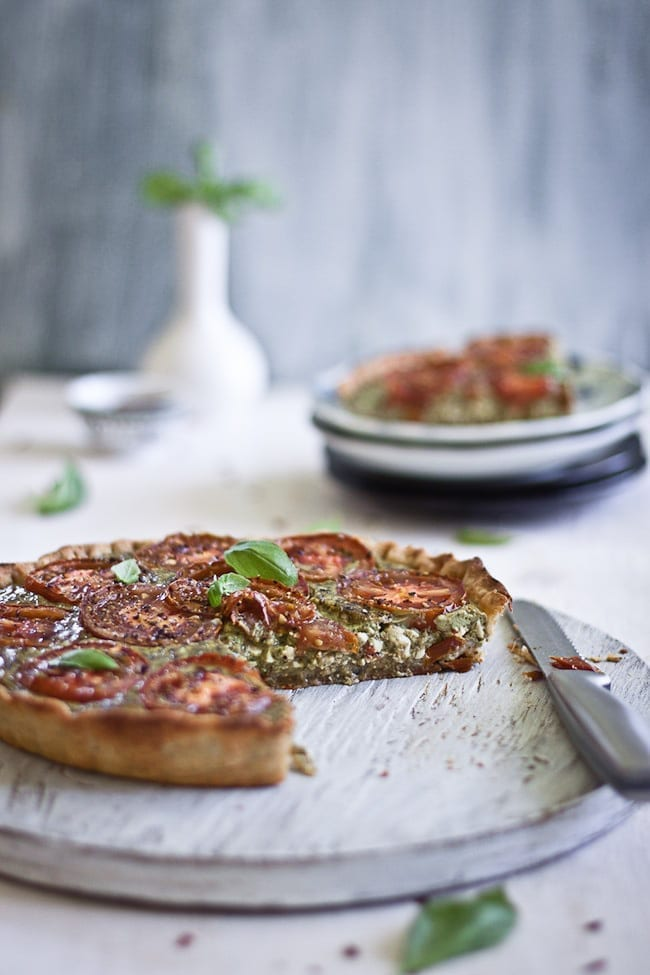 Tomato Tart with Basil and Paneer 4