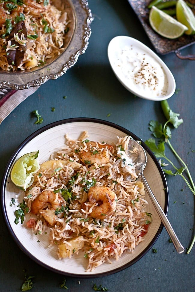 Shrimp Pulav - Guest Post at Healthful Pursuit 4
