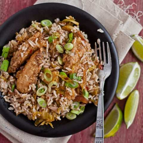 asian chicken fried rice 5