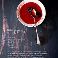 Recipe card for Hibiscus Syrup @ Playful Cooking