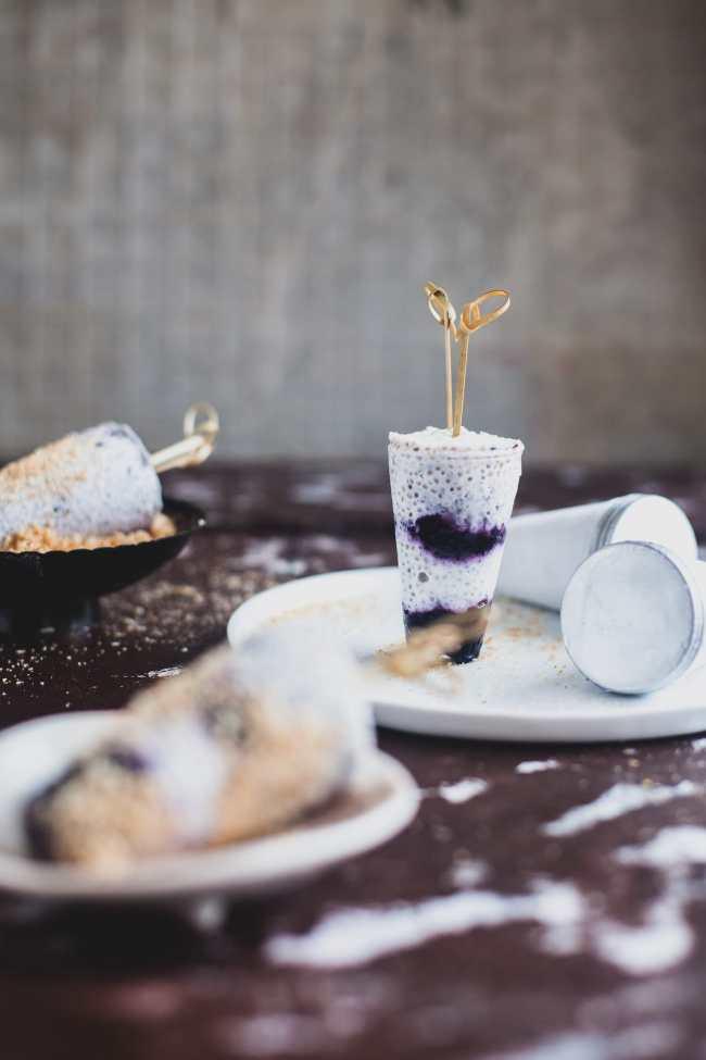 Coconut Blueberry Chia Kulfi | Playful Cooking