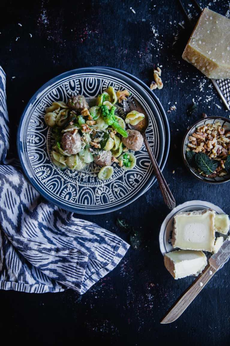 Orecchiette With Sausage, Broccoli And Goat Cheese | Playful Cooking