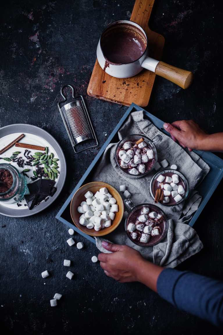 Chai Spiced Hot Chocolate | Playful Cooking