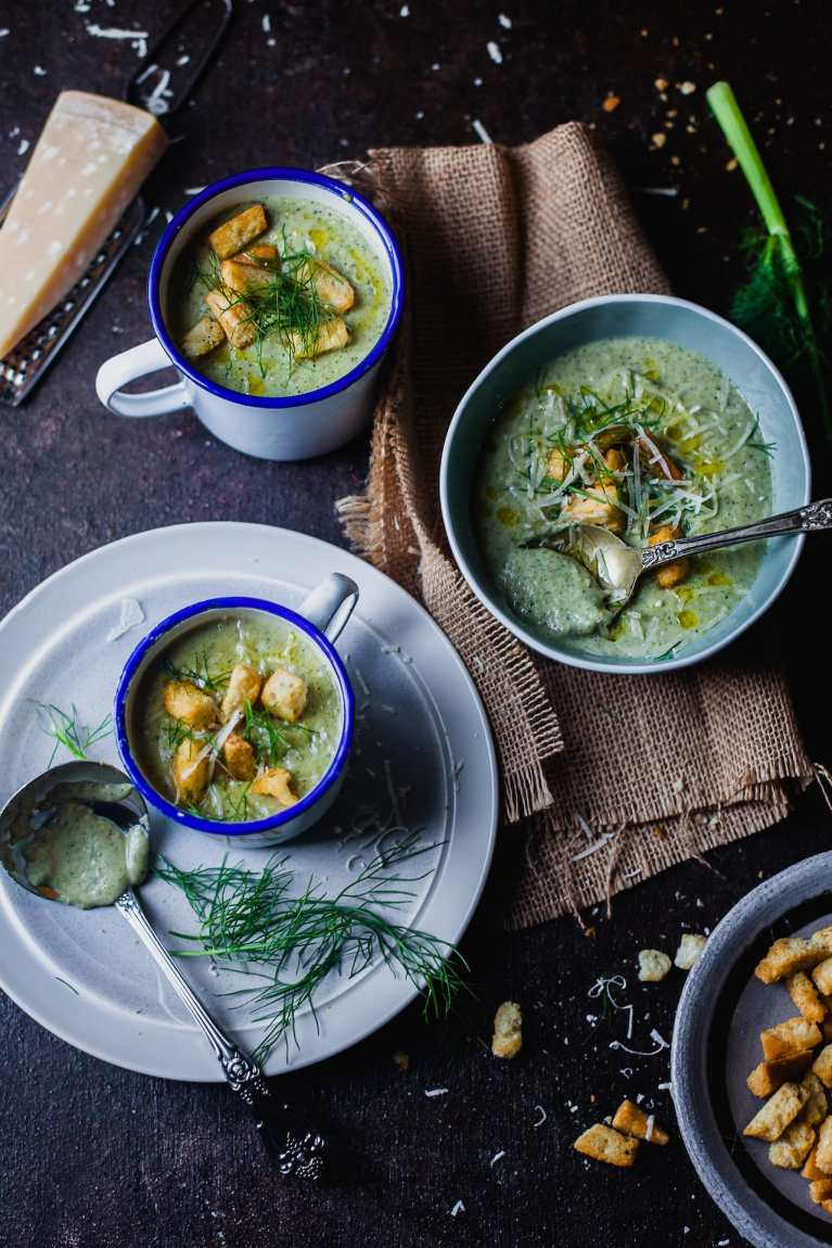 Roasted Broccoli and Fennel Soup 5