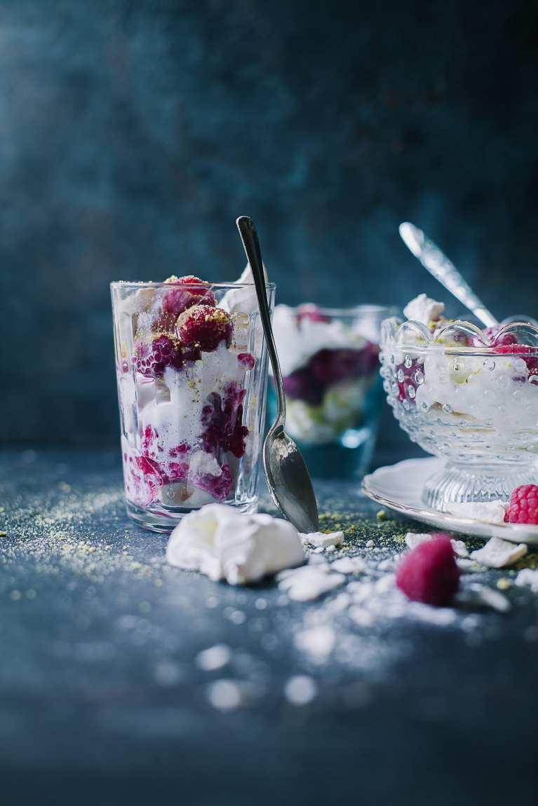 Raspberry Pistachio Eton Mess | Playful Cooking