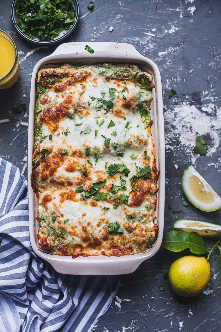 Green Chutney Chicken Enchilada | Playful Cooking
