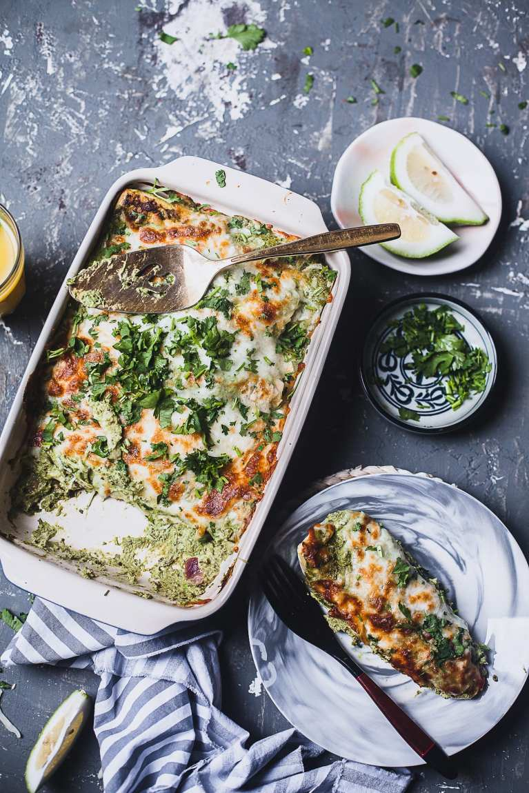 Flat Lay Food Photography #enchilada #chicken #meal #easy