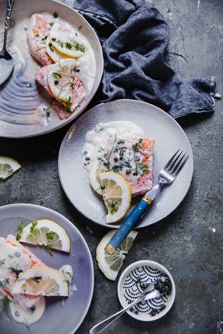 Creamy Salmon Piccata | Playful Cooking #salmon #piccata #creamy #dinnerideas #easyrecipe #garlic