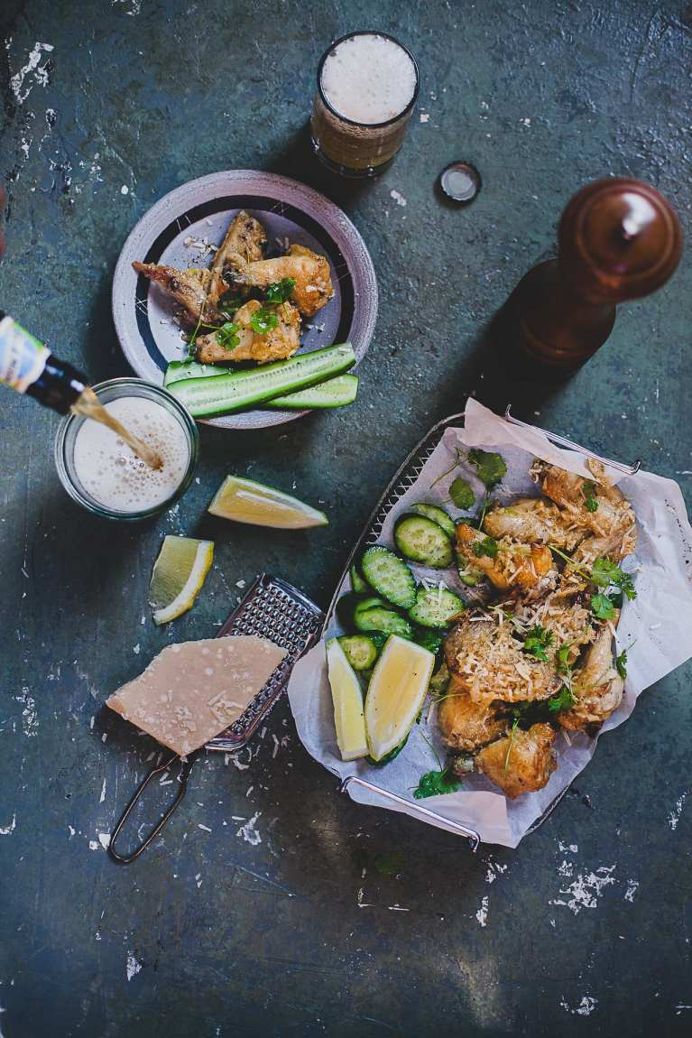 Flat Lay Food Photography   Playful Cooking #chicken #wings #baked #garlic