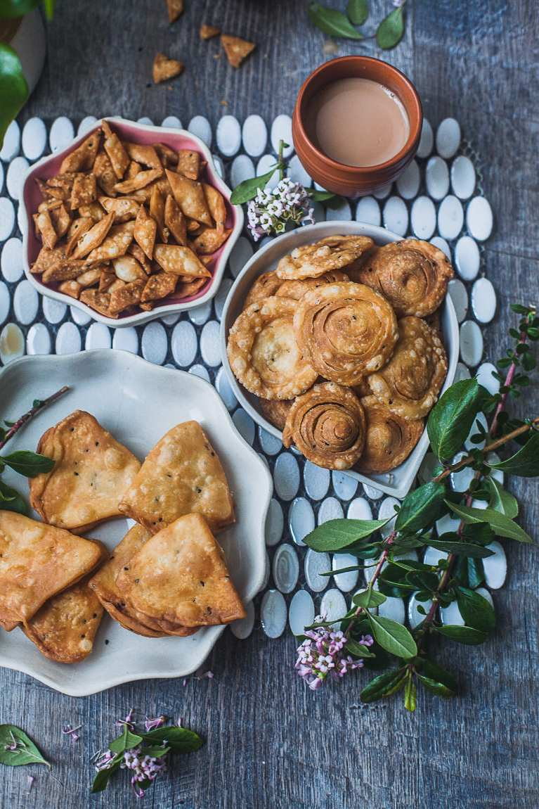 Nimki/Namak Pare (Crunchy Savory Crackers) – Shaped Three Simple Ways!   Playful Cooking