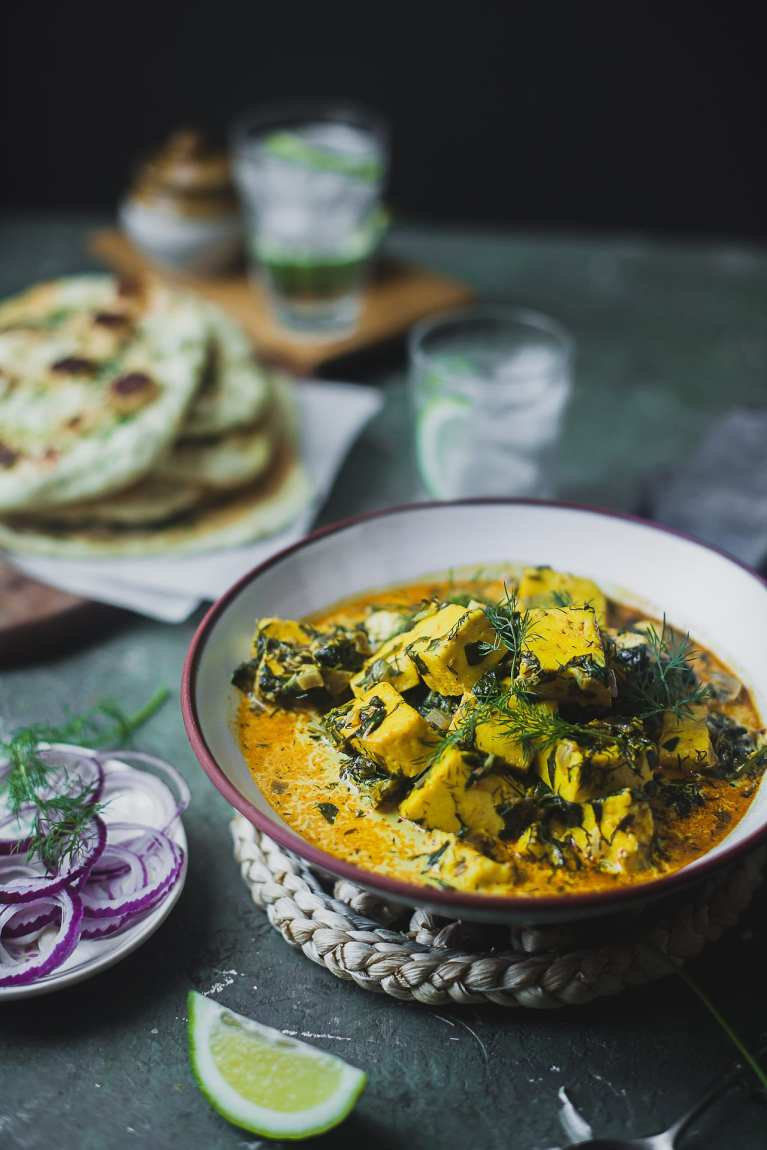 Methi Saag Malai Paneer (Paneer with Fenugreek Dill Creamy Sauce) | Playful Cooking #foodphotography #paneer #photography #curry #indian #stew