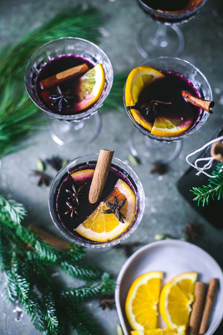 Orange Spiced Mulled Wine | Playful Cooking #mulledwine #foodphotography #drinks