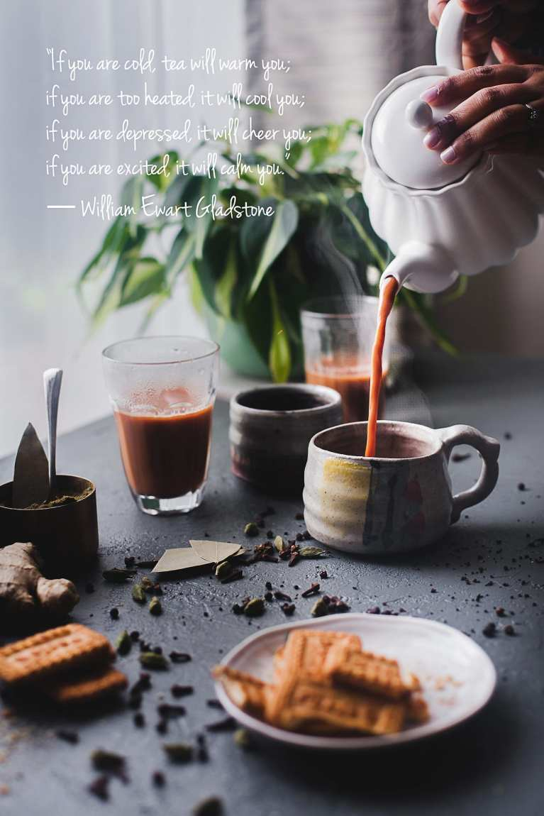 Indian Masala Chai (Spiced Milk Tea) | Playful Cooking #chai #malasachai #indiantea #quotes
