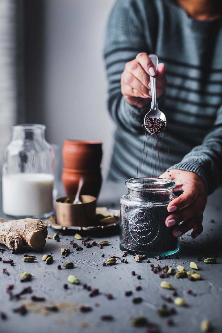 Indian Masala Chai (Spiced Milk Tea) | Playful Cooking #tea #foodphotography #masalachai #chai #latter #indian