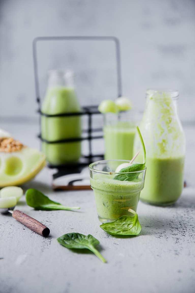 Melon Spinach Smoothie 6