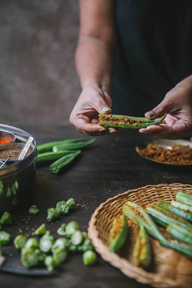 Spices used in the making of Bharwa Masala Bhindi (Spice Stuffed Okra) | Playful Cooking #okra #bhindi #playfulcooking #foodphtography