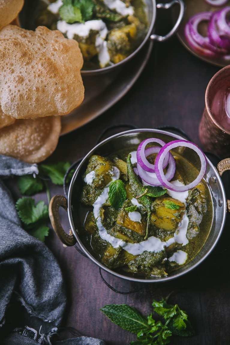 Pudina Aloo ( Potato Mint Curry) 10