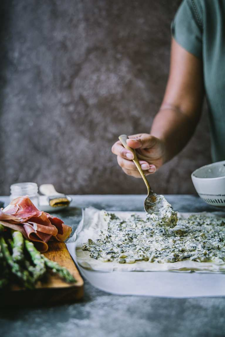 Asparagus Prosciutto Phyllo Tart 3