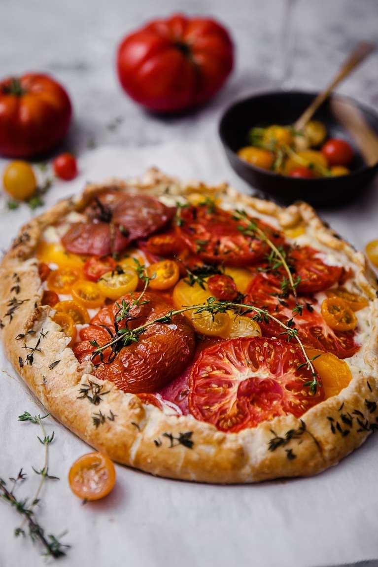 Tomato Thyme Ricotta Galette