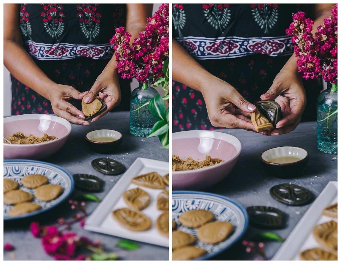 Traditional Bengali Sondesh mold used! #bengali #desserts #sweets #durgapuja #kolkatafood #foodphotogrpahy #milk #fudge