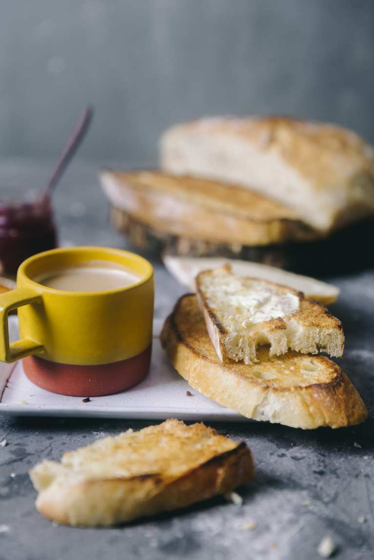 Tea and Bread | Playful Cooking #bread #baking #food-photography #noknead