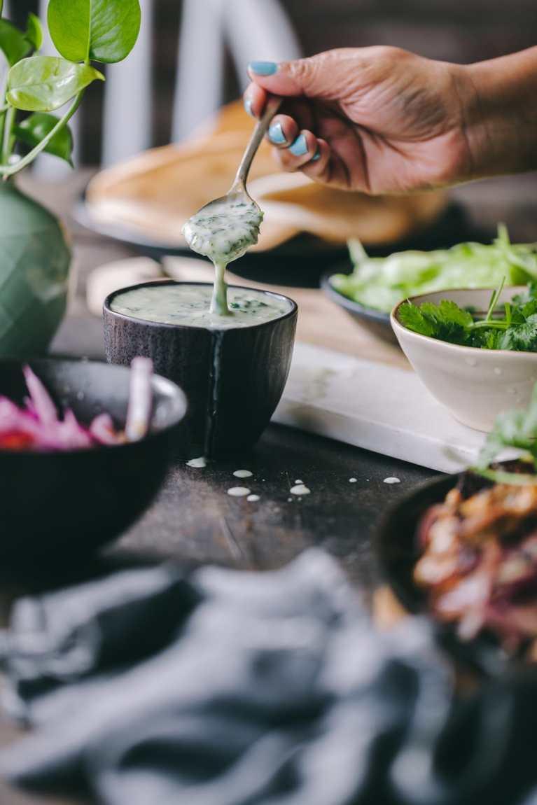 Yogurt Sauce | Playful Cooking #yogurt #greenyogurt #easyrecipe #tacosauce #taco