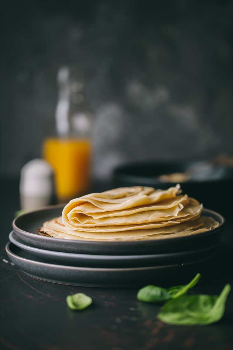 Mushroom And Spinach Crepes 1