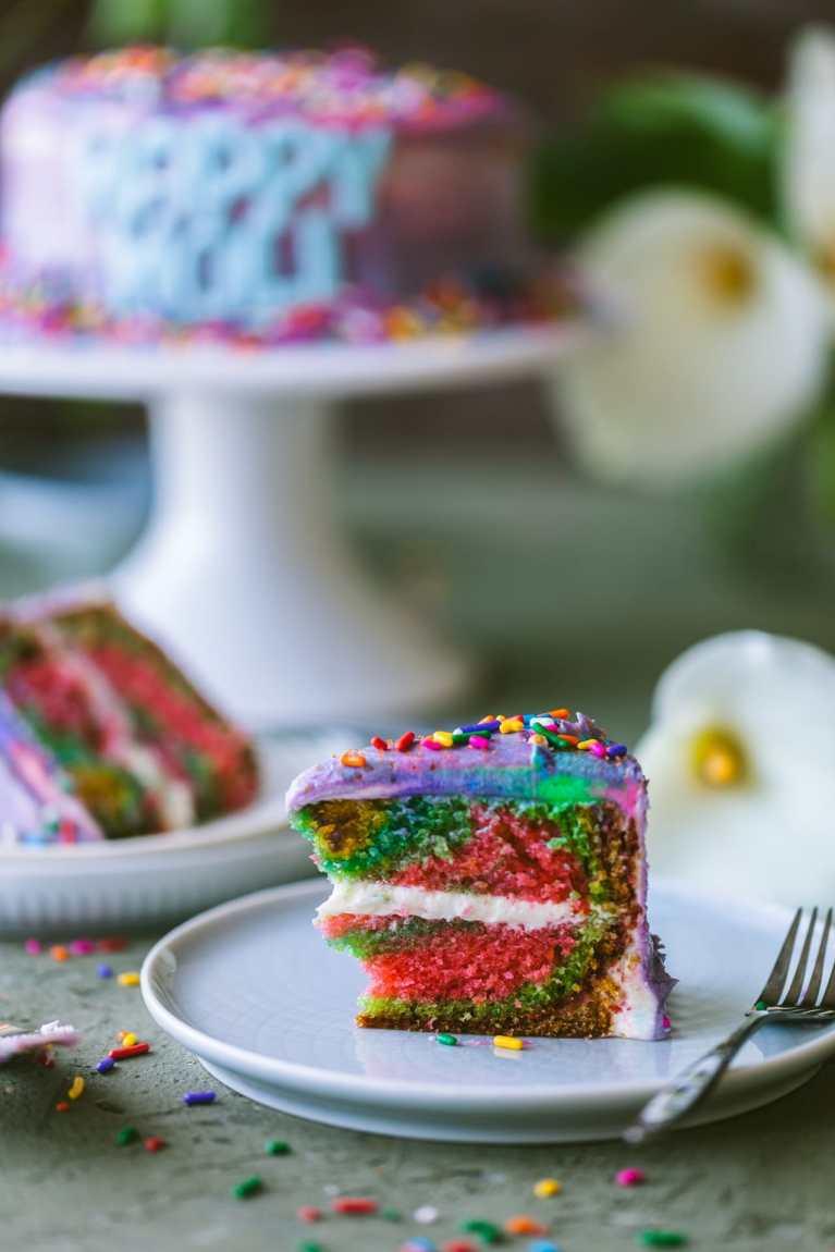 Rainbow Cake | playful cooking #cake #rainbowcake #6inchcake