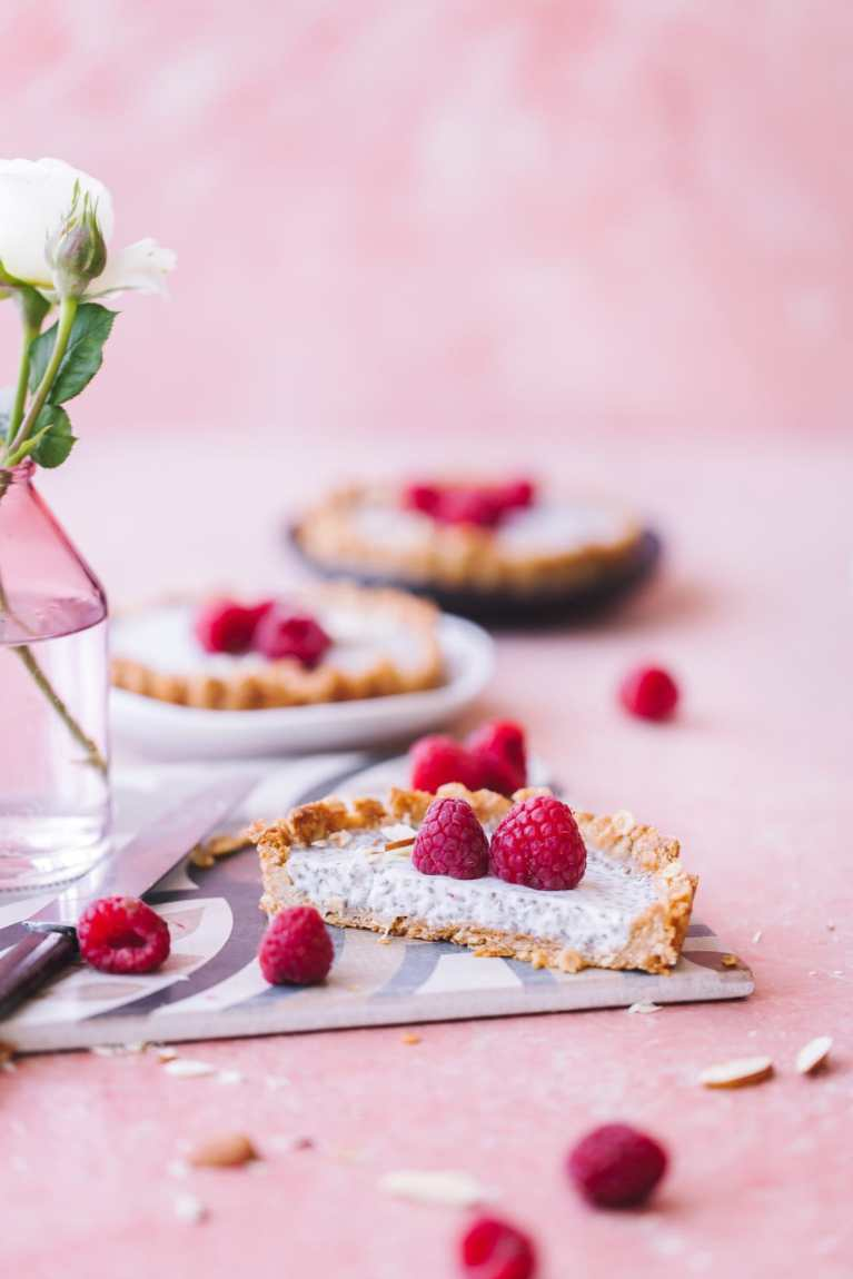 Granola Crust Chia Pudding Tart | Playful Cooking #granola #chiapudding #breakfast #foodphotography