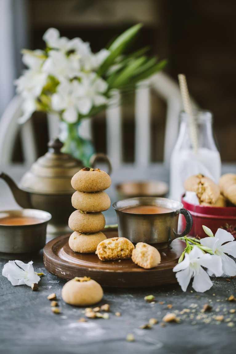 Styled shortbread cookies
