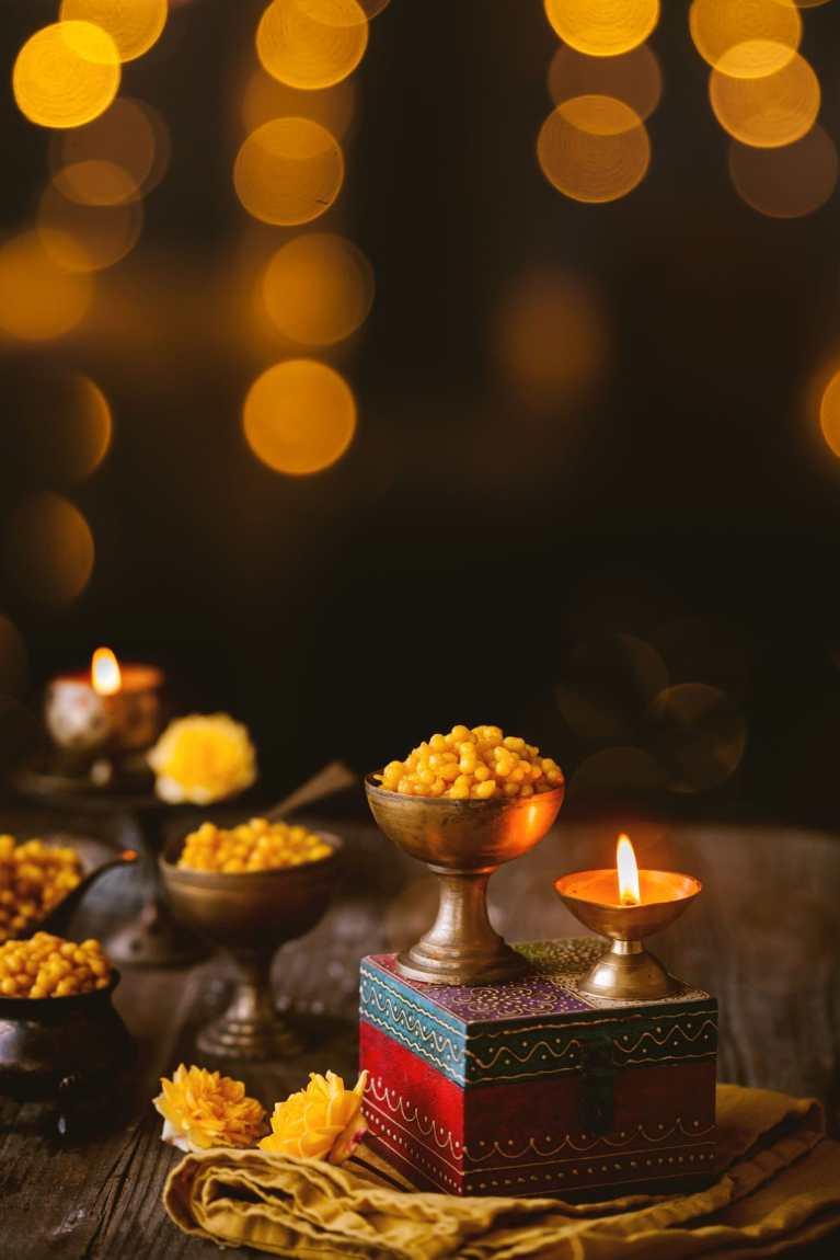 Indian Diwali desserts prepared with gram flour.
