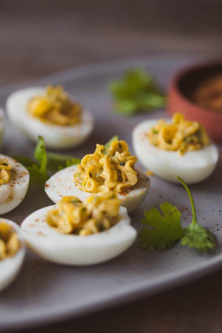 Spice Stuffed Eggs