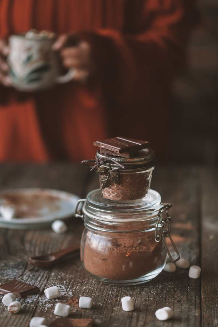 Hot Chocolate Mix ( 5 minutes ) - Makes a perfect Holiday Edible Gift!