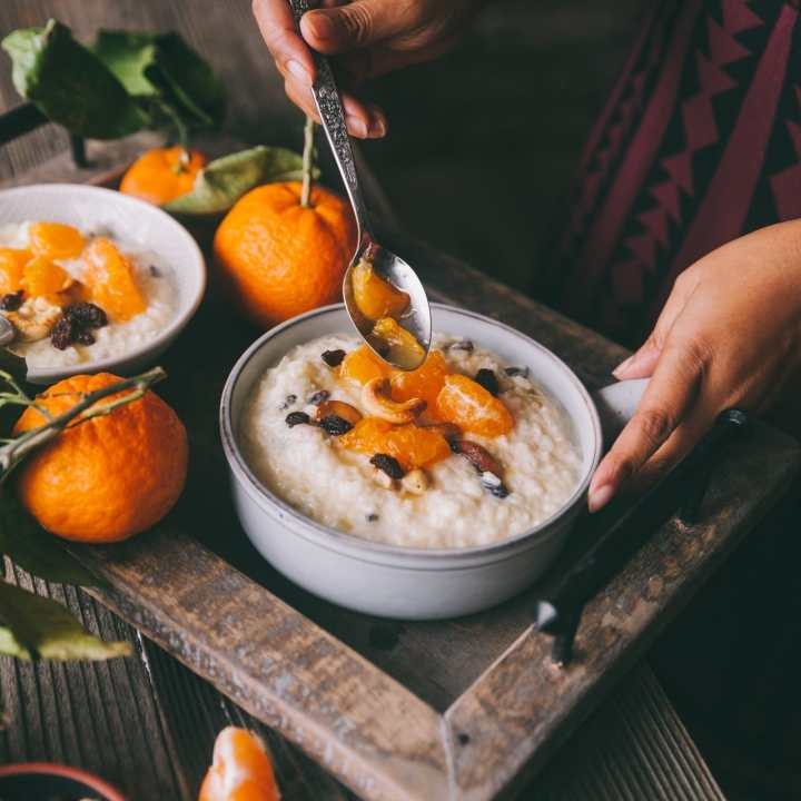 Komola Payesh (Orange Rice Pudding)