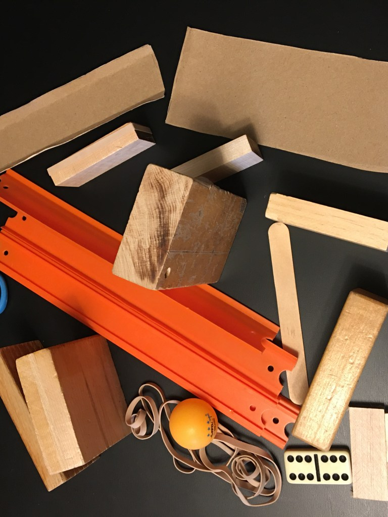image: Rube Goldberg Track Feeder Technique Materials