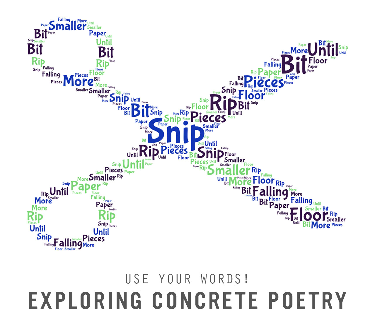 Use Your Words Exploring Concrete Poetry Playful Learning