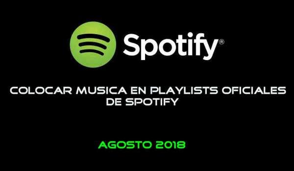 Como colocar tus canciones en las playlists oficiales de Spotify
