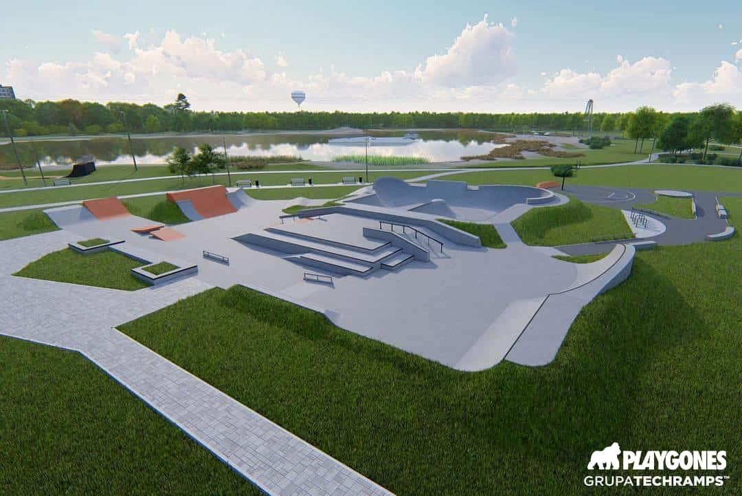 Skatepark en 3D