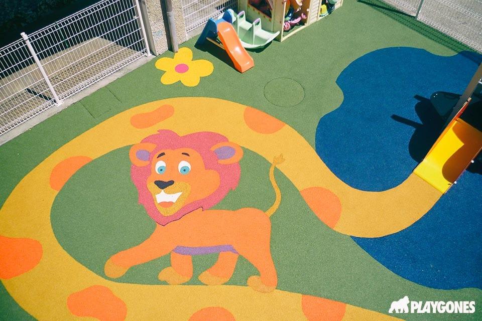 Lion en sol EPDM