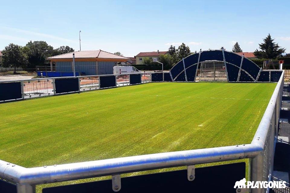 Aménagement d'un gazon synthétique pour le TMS sur la nouvelle aire sportive de Rivas