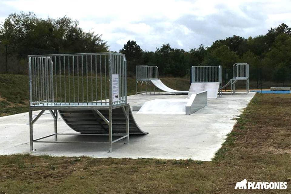 Réalisation d'un skatepark modulaire pour la ville de Saint-Martin-La-Garenne