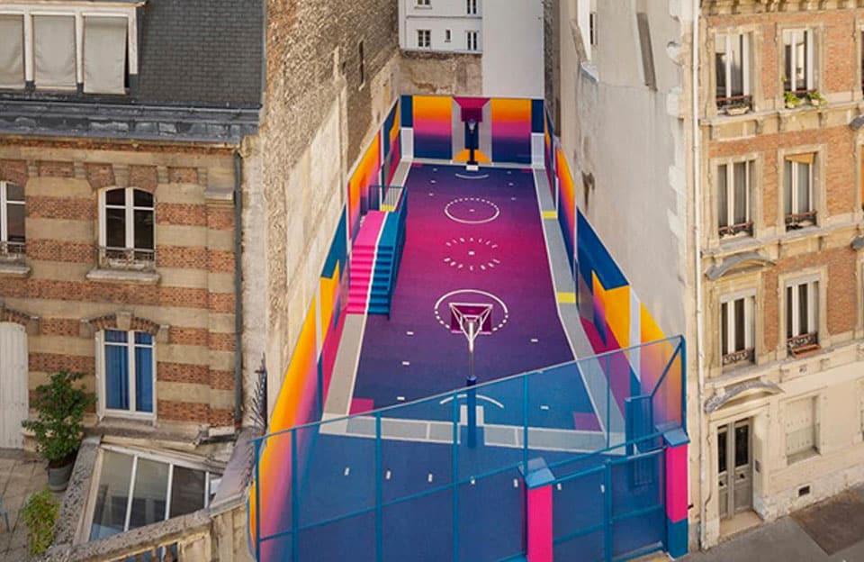 Pigalle, terrain de basket rue Dupérré, Paris - 2017