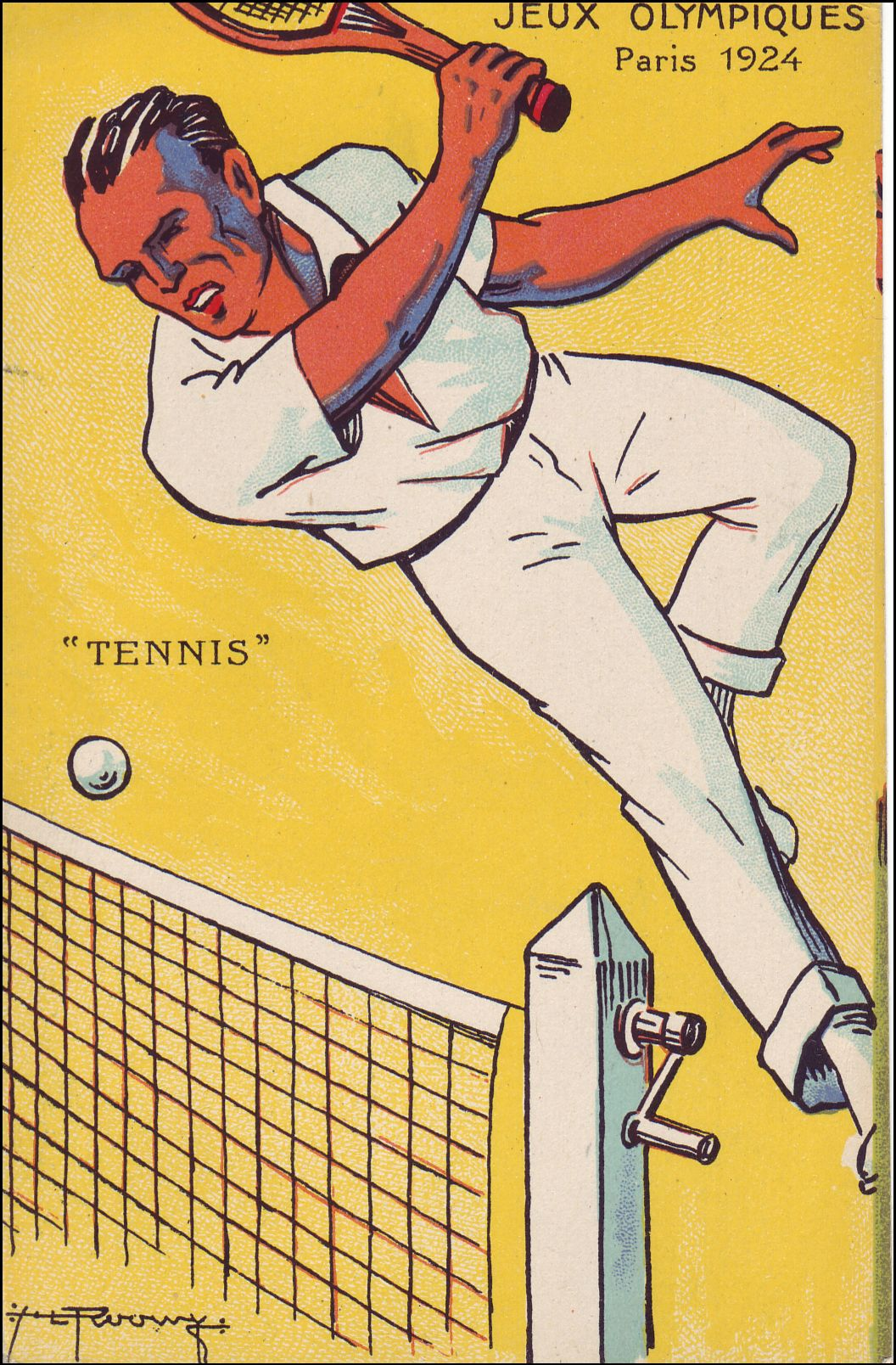 Les compétitions de tennis se déroulent au stade de Colombes sur des courts en terre battue.